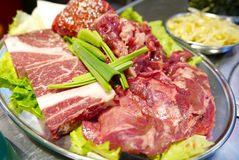 Raw beef for Korean barbecue Royalty Free Stock Image
