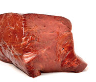 Raw beef liver. Isolated on white background Royalty Free Stock Photos