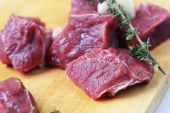 Raw beef meat Stock Images