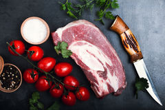 Raw beef meat, beef brisket for stew Stock Photography