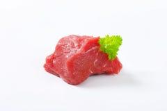 Raw beef meat chunk Stock Photo