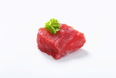 Raw beef meat chunk Stock Image