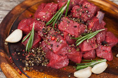 Raw beef meat Royalty Free Stock Images