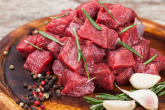 Raw beef meat Stock Photos