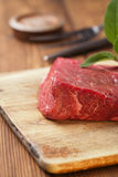 Raw beef meat fillet Stock Photo