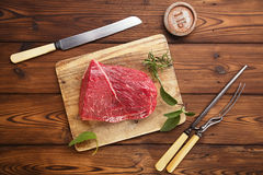 Raw beef meat fillet Royalty Free Stock Image