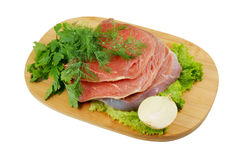 Raw beef meat with fresh vegetables Stock Photo