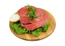 Raw beef meat with fresh vegetables Stock Images