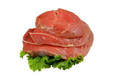 Raw beef meat with greens Stock Image