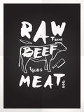 Raw beef meat royalty free illustration