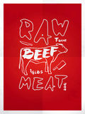Raw beef meat vector illustration
