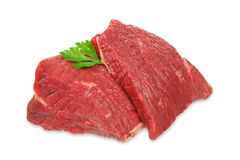 Raw beef meat isolated on white background Royalty Free Stock Photography
