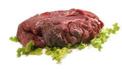 Raw beef meat over white Stock Photo