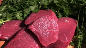 Raw beef meat stock video footage