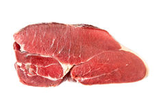 Raw beef meat piece. Frsh raw beef meat piece isolated close up Royalty Free Stock Images