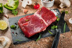 Raw beef meat tenderloin Stock Photos