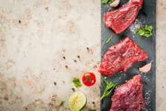 Raw beef meat tenderloin Royalty Free Stock Photos