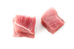 Raw beef meat on white Royalty Free Stock Photo