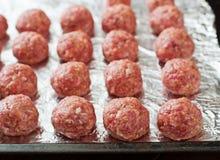 Raw beef meatballs Stock Photography