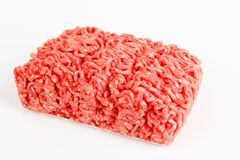 Raw beef minced meat. With white background Royalty Free Stock Photography