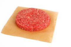 Raw pattie for a burger Stock Photo
