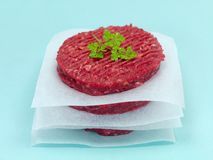 Raw Beef Patties Stock Images