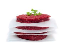 Raw Beef Patties Stock Image