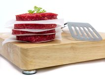 Raw Beef Patties Stock Photography