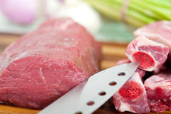 Raw beef and pork ribs Royalty Free Stock Images