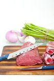Raw beef and pork ribs Stock Photo