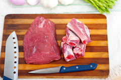 Raw beef and pork ribs Royalty Free Stock Image