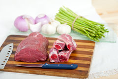 Raw beef and pork ribs Stock Photos