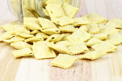 Raw beef ravioli Stock Images