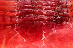 Raw beef red ham meat slices food texture royalty free stock photo
