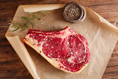 Raw beef Rib bone  steak Stock Image