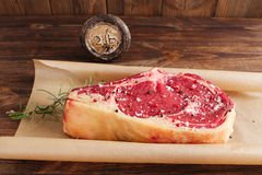 Raw beef Rib bone  steak Stock Photo