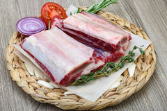 Raw beef ribs Stock Photos
