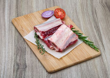 Raw beef ribs Royalty Free Stock Image
