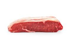 Raw beef rump steak horizontal. Beef raw rump steak horizontal, isolated on white Stock Photography