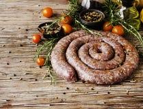 Raw beef sausages, selective focus Stock Photos