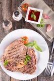 Raw beef skewer Royalty Free Stock Photos