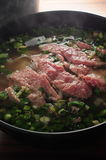 Raw Beef Soup Stock Photos