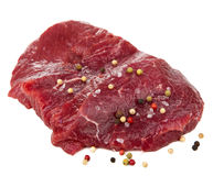 Raw beef with spices isolated Stock Photography