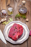 Raw beef. Royalty Free Stock Photography