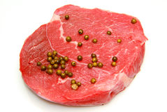 Raw beef steak Stock Images