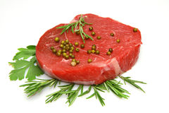 Raw beef steak Royalty Free Stock Image
