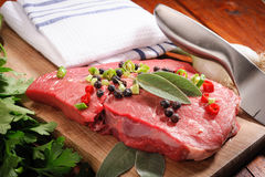 Raw beef steak Stock Photography
