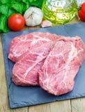Raw beef steak Royalty Free Stock Photos