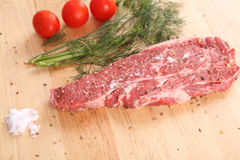 Raw beef steak Royalty Free Stock Images