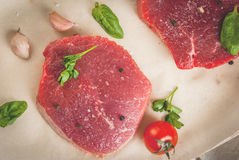Raw beef, steak, cutlet. Stock Photography